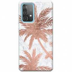 Etui na Samsung Galaxy A52 5G Palmy rose gold