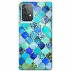 Etui na Samsung Galaxy A52 5G Błękitny damaszek