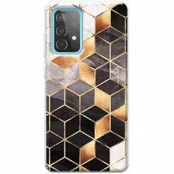 Etui na Samsung Galaxy A52 5G Złote romby geometryczne