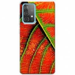 Etui na Samsung Galaxy A52 5G Czerwony liść jesienny