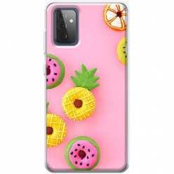 Etui na Samsung Galaxy A72 5G Kolorowe pączki owocowe
