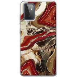Etui na Samsung Galaxy A72 5G Rubinowo złoty Agat