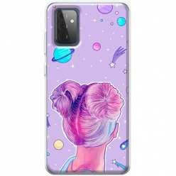 Etui na Samsung Galaxy A72 5G Galaktyczna dziewczyna