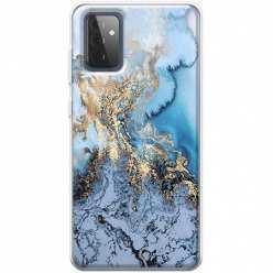 Etui na Samsung Galaxy A72 5G Błękitny marmur