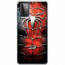 Etui na Samsung Galaxy A72 5G Stalowy spider 3