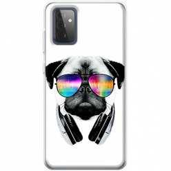 Etui na Samsung Galaxy A72 5G Piesek w okularach DJ
