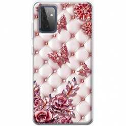 Etui na Samsung Galaxy A72 5G Motyle z różami Glamour