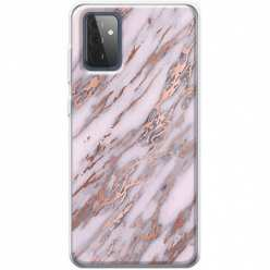 Etui na Samsung Galaxy A72 5G Różowy marmur pozłacany