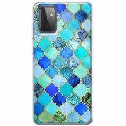 Etui na Samsung Galaxy A72 5G Błękitny damaszek