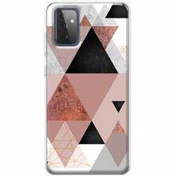 Etui na Samsung Galaxy A72 Abstrakcyjne trójkąty