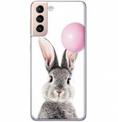 Etui na Samsung Galaxy S21 Wesoły królik z balonikiem