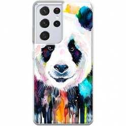 Etui na Samsung Galaxy S21 Ultra Panda watercolor