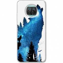 Etui na Xiaomi Mi 10T Lite Ujadający wilk nocą