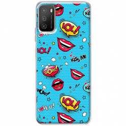 Etui na Xiaomi POCO M3 Kiss Me… LOL! Usta