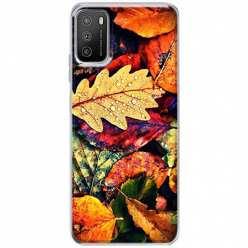 Etui na Xiaomi POCO M3 Jesienne liście spadające