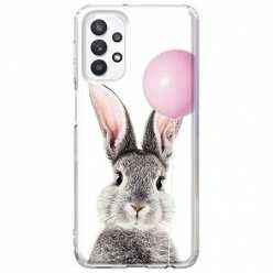 Etui na Samsung Galaxy A32 5G Wesoły królik z balonikiem