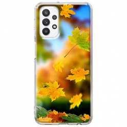 Etui na Samsung Galaxy A32 5G Jesienne liście spadające