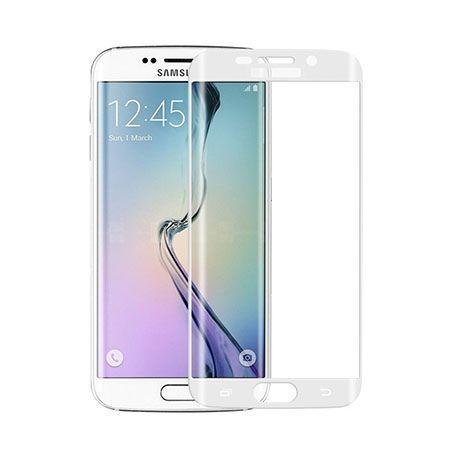 Galaxy S6 Edge hartowane szkło na cały ekran 3D - Biały