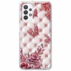 Etui na Samsung Galaxy A32 5G Motyle z różami Glamour
