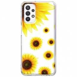 Etui na Samsung Galaxy A32 5G Słoneczniki