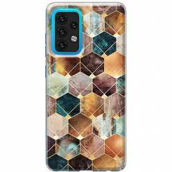 Etui na Samsung Galaxy A02s Marmurowe romby