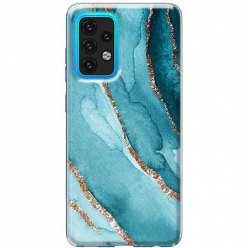 Etui na Samsung Galaxy A02s Błękitny Agat