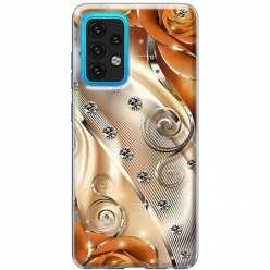 Etui na Samsung Galaxy A02s Metaliczne nuty
