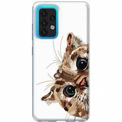 Etui na Samsung Galaxy A02s Wścipski kotek