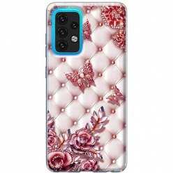 Etui na Samsung Galaxy A02s Motyle z różami Glamour