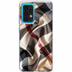 Etui na Samsung Galaxy A02s Pomięty szalik w kratkę