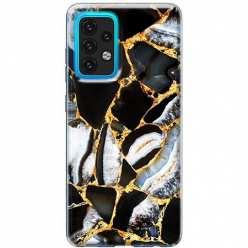 Etui na Samsung Galaxy A02s Czarny marmur złocony