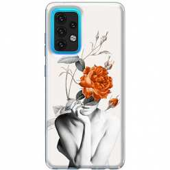 Etui na Samsung Galaxy A02s Abstrakcyjna Kobieta z różami