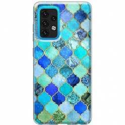 Etui na Samsung Galaxy A02s Błękitny damaszek
