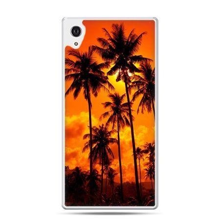 Etui na Xperia M4 Aqua palmy nocą