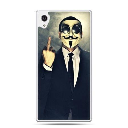 Etui na Xperia M4 Aqua Anonimus Fuck You