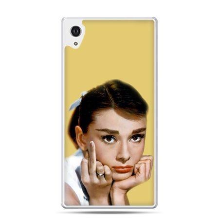 Etui na Xperia M4 Aqua Audrey Hepburn Fuck You