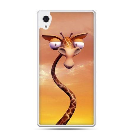 Etui na Xperia M4 Aqua śmieszna żyrafa