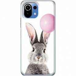 Etui na Xiaomi Mi 11 Lite Wesoły królik z balonikiem