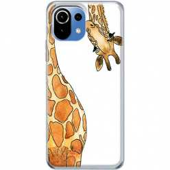 Etui na Xiaomi Mi 11 Lite Ciekawska żyrafa