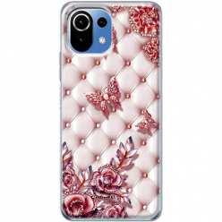 Etui na Xiaomi Mi 11 Lite Motyle z różami Glamour