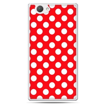Xperia Z1 compact etui czerwona polka dot