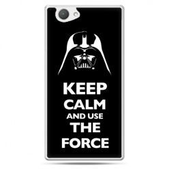 Xperia Z1 compact etui Keep calm and use the force