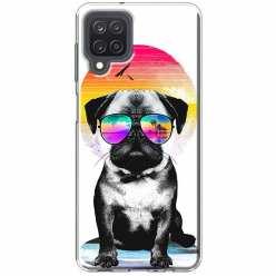 Etui na Samsung Galaxy M12 Piesek w okularach