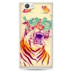 Xperia Z1 compact etui egzotyczny tygrys