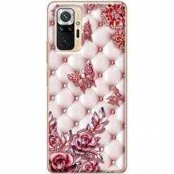 Etui na Xiaomi Redmi Note 10 Pro Motyle z różami Glamour