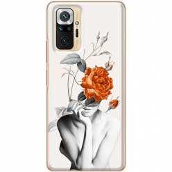 Etui na Xiaomi Redmi Note 10 Pro Abstrakcyjna Kobieta z różami