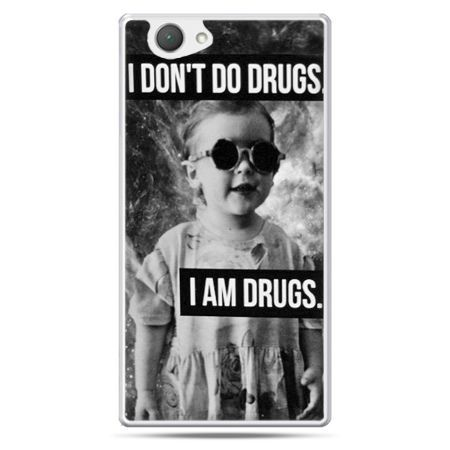 Xperia Z1 compact etui I don`t do drugs I am drugs