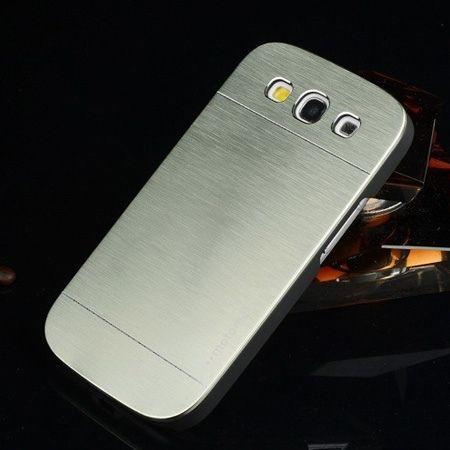 Galaxy S3 etui Motomo aluminium srebrny