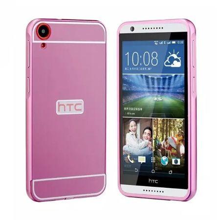 HTC Desire 820 etui aluminium bumper case różowy