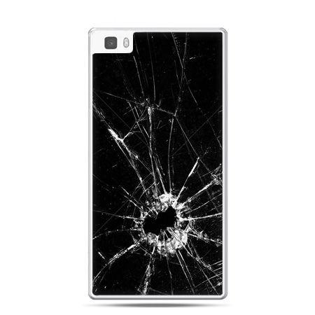 Huawei P8 Lite etui rozbita szyba